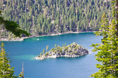 Emerald Bay tea house. Tea house on island in Emerald Bay, Lake Tahoe, California stock photos