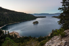 Emerald Bay in twilight Stock Images