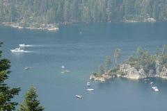 Emerald Bay, Zuidenmeer Tahoe CA, de V.S. stock foto