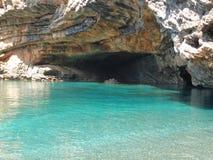 Emerald beautiful beach of evia Royalty Free Stock Photo