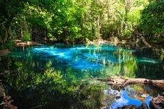 Emerald blue natural Pool Stock Image