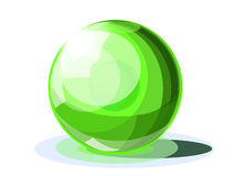Emerald brilliant ball Stock Images