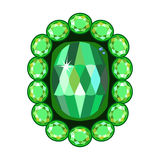 Emerald brooch Royalty Free Stock Image