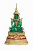 Emerald Buddha op Witte achtergrond Stock Afbeeldingen