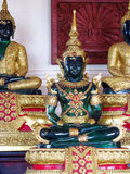 Emerald Buddha statue in Buddhist temple Stock Image