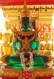 Emerald Buddha statue in Buddhist temple royalty free stock photography