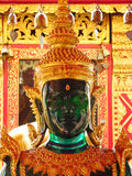 Emerald Buddha statue in Buddhist temple royalty free stock images