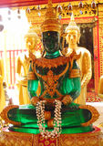 Emerald Buddha statue in Buddhist temple stock photo