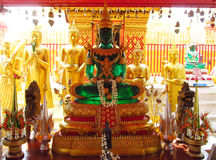 Emerald Buddha statue in Buddhist temple Royalty Free Stock Photo