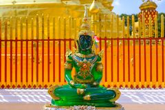 Emerald Buddha statue at a temple Royalty Free Stock Images