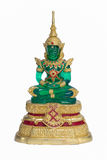 Emerald Buddha sur le fond blanc Images stock