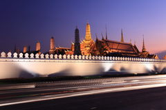Emerald buddha temple. Or Wat Phra Kaeo-bangkok thailand Royalty Free Stock Photo