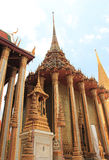 Emerald Buddha Temple in Bangkok, Thailand. Emerald Buddha Temple, one of the most famous and popular destinations in Bangkok, Thailand Royalty Free Stock Photos