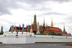 Emerald Buddha Temple and Grand Palace in Bangkok, Thailand. Emerald Buddha Temple or Wat Prakaew and Grand Palace, the most famous and popolar destination in Royalty Free Stock Photos