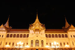 The Emerald Buddha temple in night Royalty Free Stock Image
