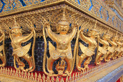 Emerald Buddha Temple Wall Decoration Royalty Free Stock Image