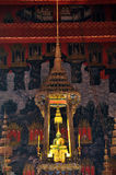 The Emerald Buddha in the temple of Wat Phra Kaeo Stock Photos