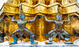 The Emerald Buddha (Wat Phra Kaew), Bangkok, Landmark and No. 1 tourist attractions in Thailand. Royalty Free Stock Images