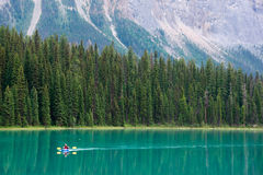 Emerald Canoe Royalty Free Stock Photography