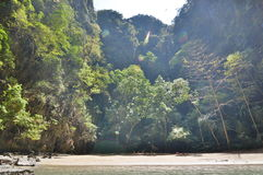 Emerald cave lagoon. Koh Mook. Thailand stock photos