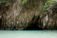 Emerald Cave in Thailand royalty free stock image