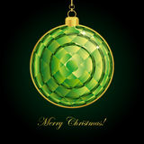 Emerald Christmas ball. Royalty Free Stock Photography