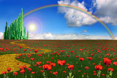 Emerald City And Yellow Brick Road Stock Photos