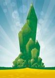Emerald city close up. Sparkling capital city of oz Stock Photos