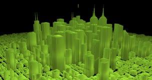 Emerald city stock video