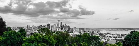 The Emerald City. Downtown Seattle from Queen Anne Hill stock photography