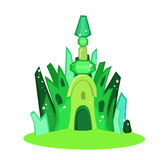 Emerald city square.  Vector Illustration. Royalty Free Stock Photo