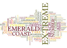 Emerald Coast Home To Extreme Adventures Word Cloud Concept Royalty Free Stock Photo