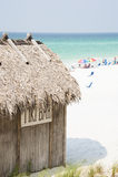 The Emerald Coast Tiki Bar and Beach Stock Images