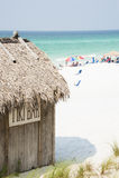 Emerald Coast Tiki Bar und der Strand Stockfotografie