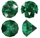 Emerald color jewel gem isolated Royalty Free Stock Photo