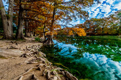 Emerald Crystal Clear Waters of the Frio River at Garner State Park, Texas Royalty Free Stock Images