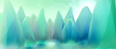 Emerald stones lowpoly Stock Images
