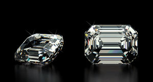 Emerald Cut Diamond Royalty Free Stock Photos