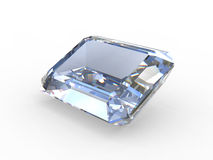 Emerald cut diamond gemstone Stock Photography