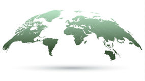 Emerald Detailed Globe Map Immagine Stock