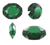 Emerald diamond cut Stock Image