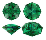 Emerald eight star cut isolated Royalty Free Stock Images
