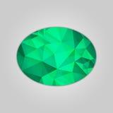 Emerald ellipse shape Royalty Free Stock Image