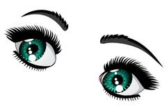 Emerald eyes Royalty Free Stock Images