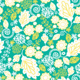 Emerald flowerals seamless pattern background Royalty Free Stock Photos