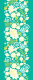 Emerald flowerals vertical seamless pattern Stock Images