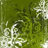 emerald flowers background Stock Image