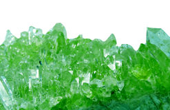 Emerald gem geode geological crystals Royalty Free Stock Photos