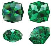Emerald gem isolated Stock Image