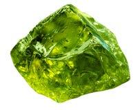 Emerald gem stone mineral. Green gemstone of precious rock isolated on white background. Transparent shiny raw brilliant. Gem stock photo